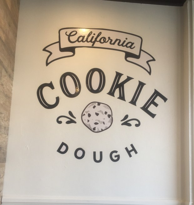 The cookie dough at California Cookie Dough has no raw eggs.(Photo by Eva Kilgore)