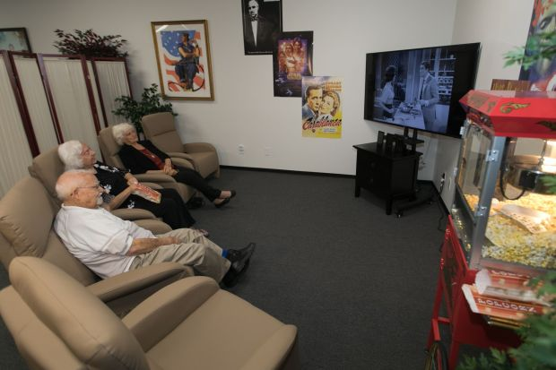 Patrons of Your Home Care in Laguna Woods recline and relax to a cinematic afternoon. (Courtesy photo)
