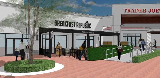 San Diego'€™s fastest-growing restaurant, Breakfast Republic, is coming to Irvine in late fall 2018. (Rendering Courtesy Breakfast Republic)