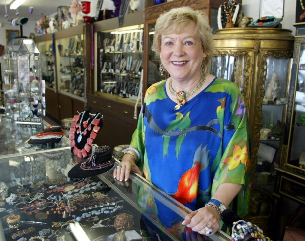 Tillie Domito, owner of Plum Precious, is pictured in her store in 2003. (File photo by Paul Bersebach, Orange County Register/SCNG)