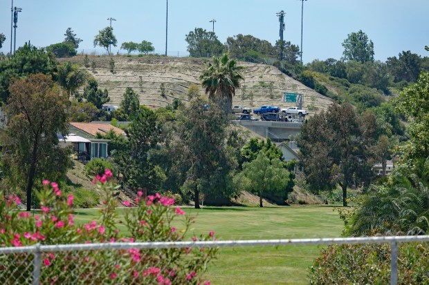 This is where one of two potential routes for the 241 Toll Road through San Clemente would merge onto Interstate 5, through the Shorecliffs Golf Course corridor. Houses line the golf course on each side. (File photo by Fred Swegles, Orange County Register/SCNG)