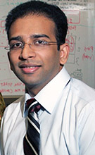 """Cal State Fullerton professor of computer engineering Kiran George is co-leading the development of the """"internet of things"""" elective track. (Photo courtesy of Cal State Fullerton)"""