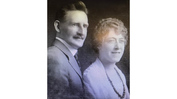 Edwina Troutt and her first husband, Alfred Petersen, circa 1925. They had recently moved from Pomona to Beverly Hills. (Courtesy photo)