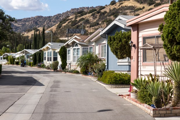 The Los Angeles County Board of Supervisors on Tuesday will consider an ordinance to control the cost of rent at mobile home parks. (Photo by David Crane, Los Angeles Daily News/SCNG)