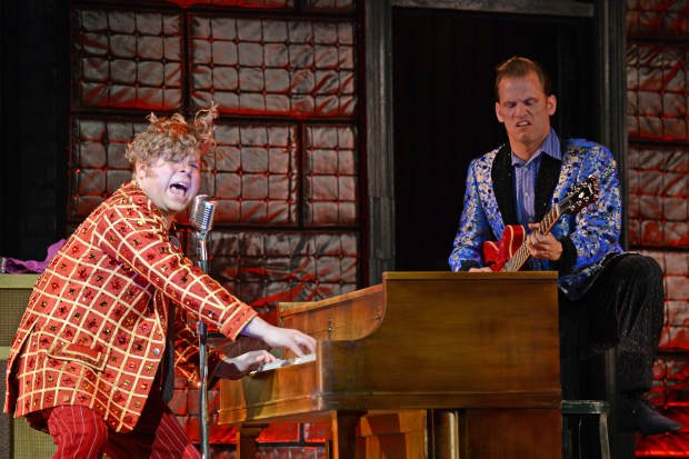 JOHN COUNTRYMAN IS Jerry Lee Lewis and MICHAEL MONROE GOODMAN is Carl Perkins in 3-D Theatricals Production of Million Dollar Quartet.February 9-18, 2018 Redondo Beach Performing Arts Center. February 23-March 4, 2018 Cerritos Center for the Performing Arts.