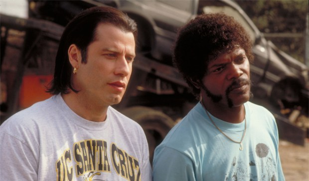 John Travolta and Samuel L. Jackson in scene from Pulp Fiction. (Daily News file photo) 1994 Miramax film