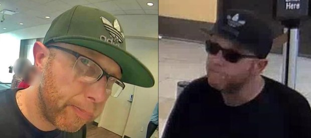 Police and FBI agents are looking for the man seen in these surveillance images who robbed three Woodland Hills banks in 20 minutes on Monday, March 5, 2018. (Photos courtesy of the Los Angeles Police Department)