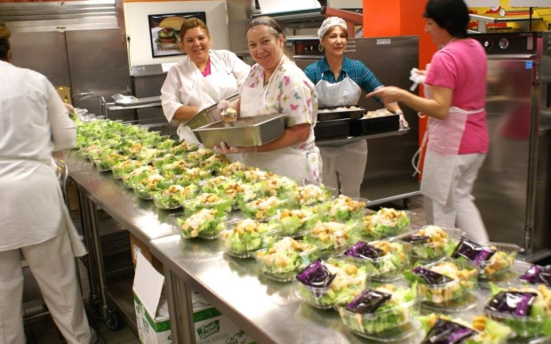 Cafeteria workers are among those participating in a strike-authorization vote for SEIU Local 99 employees of the Los Angeles Unified School District. (Photo courtesy of the LAUSD)