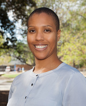 Siobhan Brooks, associate professor and co-chair of African American studies at Cal State Fullerton, recently published a paper on how black lesbians view marriage. (Photo courtesy of Cal State Fullerton)