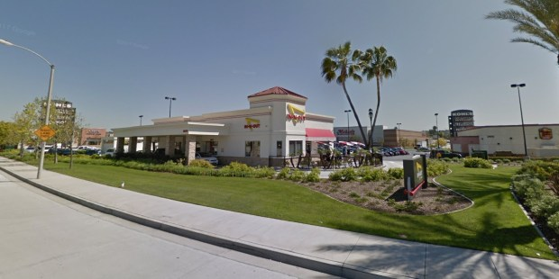 Emilio Benito Gonzalez, 23, of La Puente pleaded not guilty Tuesday, March 20, 2018, to charges related to two carjackings, including one in Industry and another at this In-N-Out Burger at Valley Boulevard and Grand Avenue in Walnut. (Google Street View)