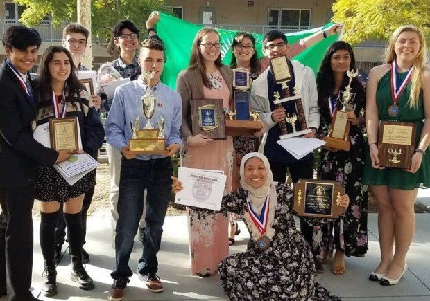 Valley Academy of Art and Sciences is among the LAUSD schools in Sacramento for the California Academic Decathlon. (Photo courtesy of LAUSD)