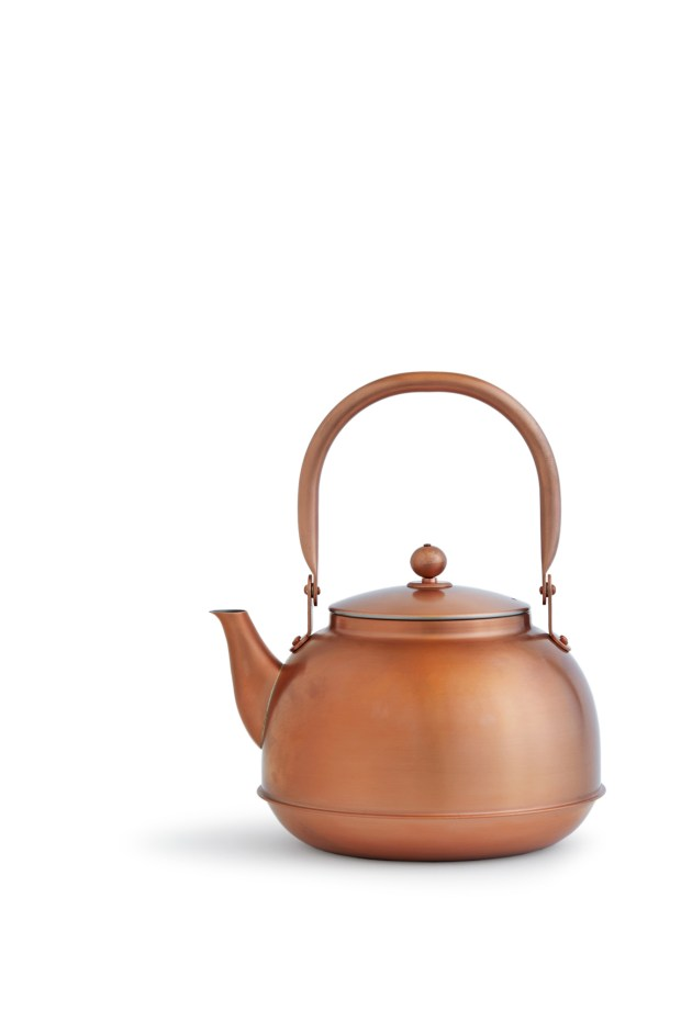Azmaya, which sells this copper kettle for $315, collaborates with artisans and manufacturers in Japan to create its curated line of kitchen, cooking and dining staples. (Photo by Armando Rafael)