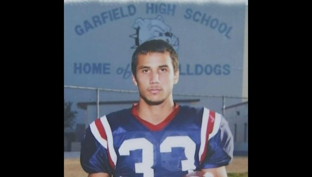 Three men convicted in the 2013 gang-related murder of 21-year-old Gabriel Soto, a former Garfield High School football player, have each received sentences on Monday, March 26, 2018 of more than 100 years to life.