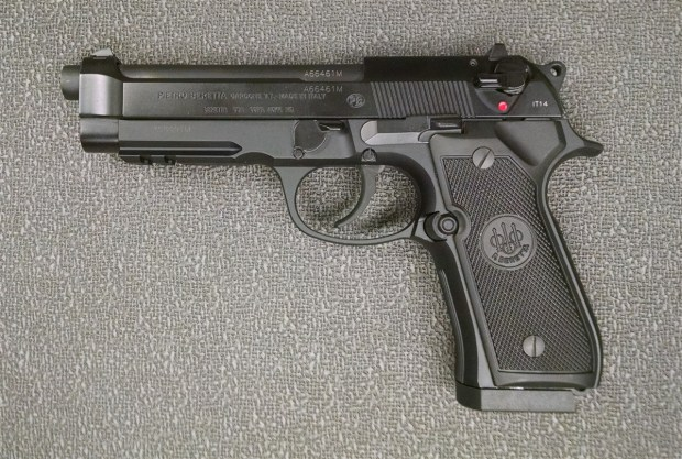 The federal Bureau of Alcohol, Tobacco, Firearms and Explosives is looking for 31 missing handguns that used by the now-disbanded Compton Police Department. Included in the missing firearms are 23 Beretta .40-caliber pistols, and eight Glock .40-caliber pistols. Seen above is a file photo of a Beretta handgun.