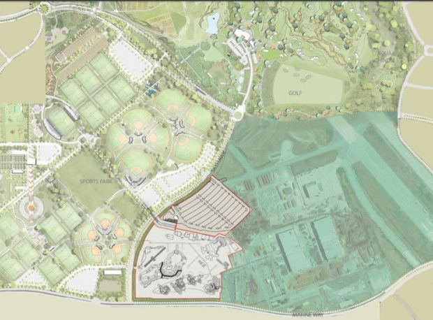 The new Wild Rivers Water Park is planned to be part of the Cultural Terrace at the Orange County Great Park in Irvine. (City of Irvine)