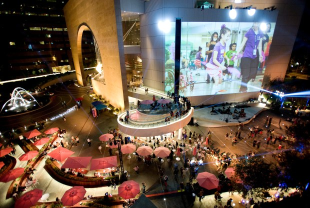 The Segerstrom Center for the Arts will host a series of free events in April at the Julianne and George Argyros Plaza. (Photo by Nick Koon)