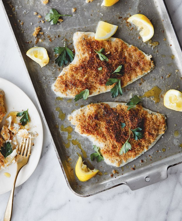 Lemon Sole Oreganata is a traditional Italian dish that is easy to prepare. (Photo by Aubrie Pick)