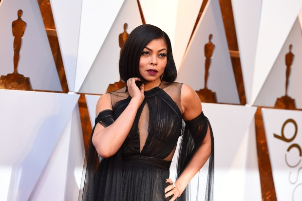 Taraji P. Henson arrives at the Oscars on Sunday, March 4, 2018, at the Dolby Theatre in Los Angeles. (Photo by Jordan Strauss/Invision/AP)