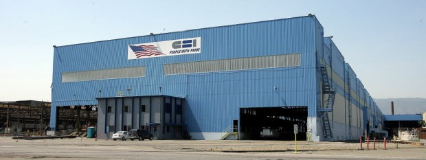 The California Steel Industries building seen in this 2013 file photo was remodeled into a pipe mill (File photo by Terry Pierson, The Press-Enterprise/SCNG).