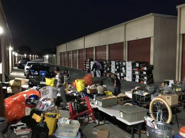 A search warrant Monday and Tuesday at a storage locker in El Monte led to the discovery of goods stolen during several commercial burglaries. (Courtesy photo Los Angeles County Sheriff's Department.)