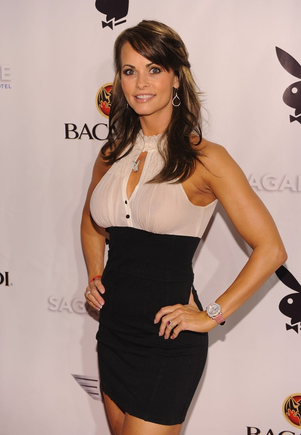 Former Playboy model Karen McDougal sued in Los Angeles on Tuesday, March 20, 2018, to nullify a 2016 agreement that prevents her from discussing an alleged affair with President Donald Trump. (2010 photo by Dimitrios Kambouris/Getty Images for Playboy)