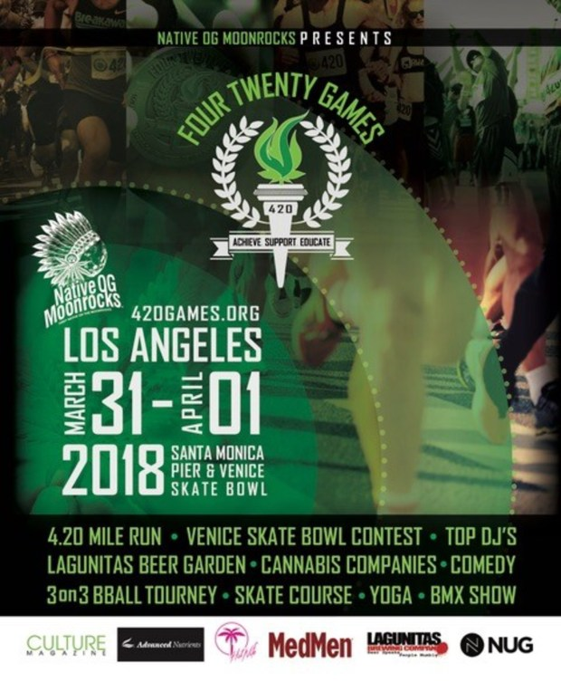 The Los Angeles 420 Games, presented by San Bernardino-basd OG Moonrocks, aims to dispel myths about marijuana users. (Image courtesy of PRNewsfoto)