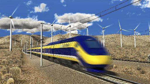 Rending of the California bullet train. (California High-Speed Rail Authority)
