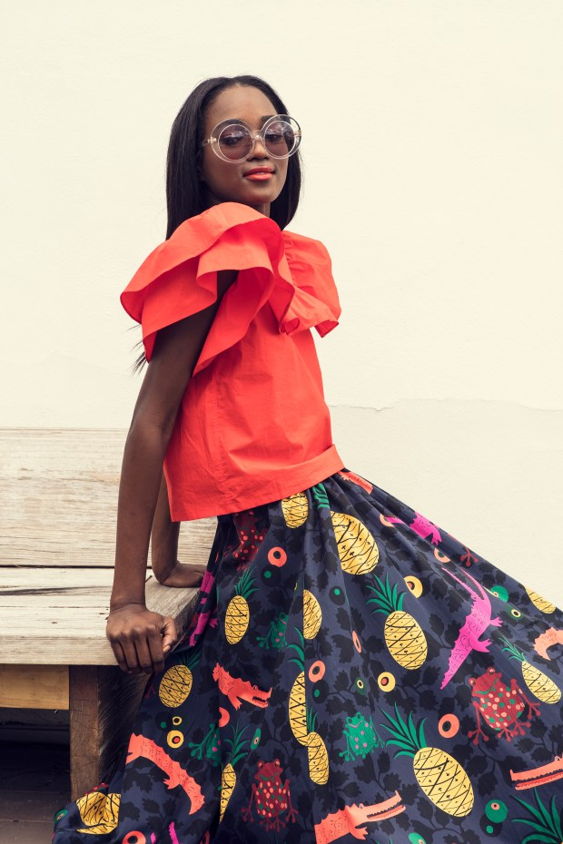 Key Biscayne top with Delano skirt from the LHD collection at The Webster South Coast Plaza