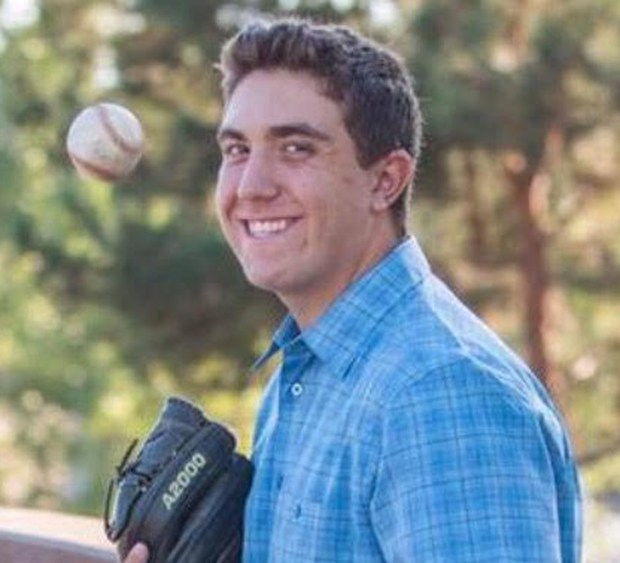 Logan Hall, 18, a Capistrano Valley Christian student and a member of the school's varsity baseball team, died suddenly at his family's home Tuesday, March 27. (Photo courtesy of Hall family)