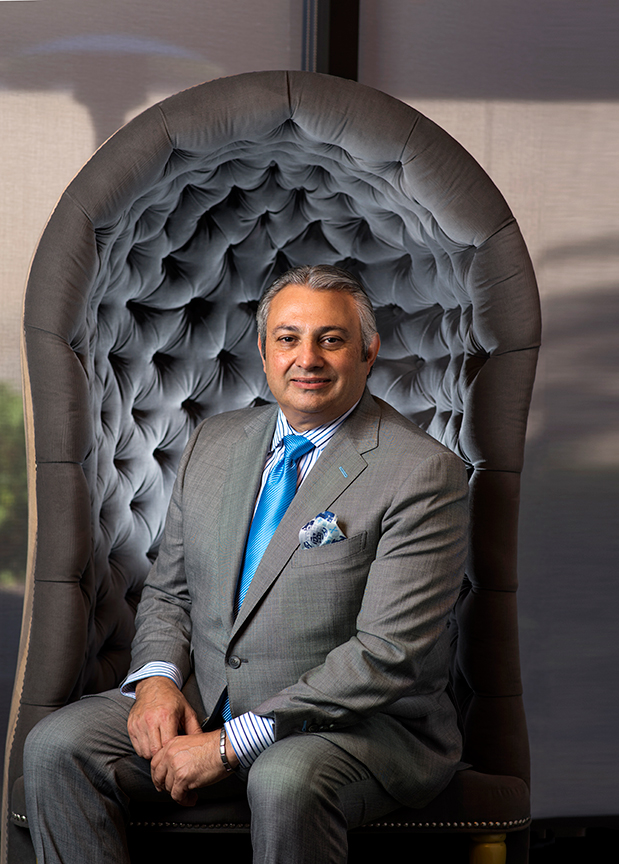 Shahin Vosough, general manager at the Center Club Orange County in Costa Mesa.