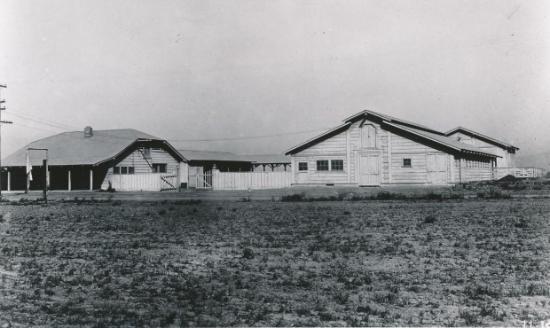 The Barn complex in its early days as a farm. (Photo courtesy of UC Riverside)