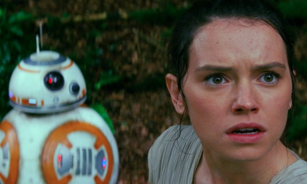 The character of Rey, seen here in a movie still, will be available for meet and greets at Disneyland starting in May 2018.