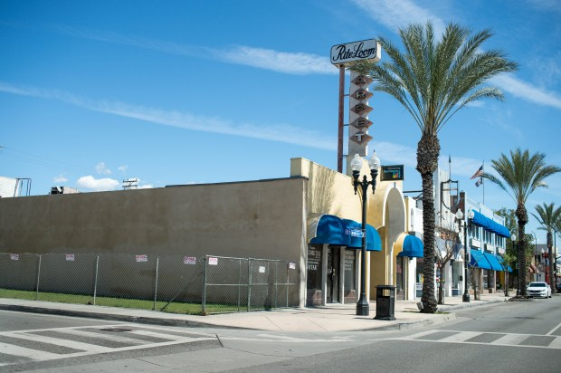 The Montebello City Council may approve a mixed-use development on W. Whittier Boulevard between 5th and 6th streets as seen on Thursday, March 15, 2018. The one-acre site is owned by the city and will be sold for about $1.6 million. (Photo by Sarah Reingewirtz, Pasadena Star-News/SCNG)