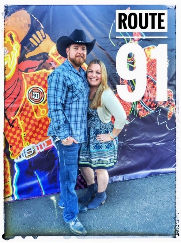 Laguna Niguel residents Jimmy and Brittany Lessard pose before the Route 91 Harvest Festival in Las Vegas on Oct. 1, 2017. (Courtesy of the Lessards)