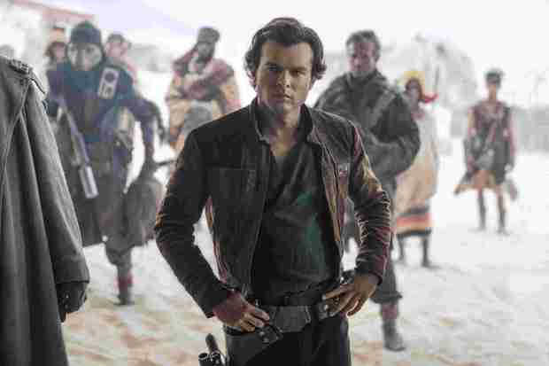 "Alden Ehrenreich is Han Solo in the ""Star Wars"" prequel ""Solo: A Star Wars Story."""