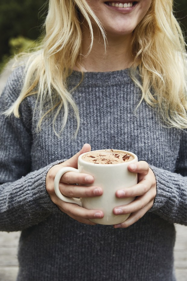 Hot chocolate made from scratch is a recipe that kids and parents can prepare together. (Photo by Aubrie Pick)