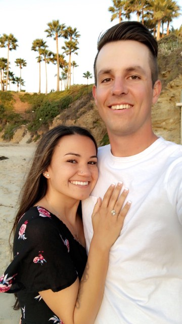 Tustin resident Mykenzie Lane, 22, was shot in the foot while escaping the mass shooting in Las Vegas in October 2017. She and 21-year-old Brandon Helmick of Mission Viejo got engaged on April 20.(Photo Courtesy of Mykenzie Lane)