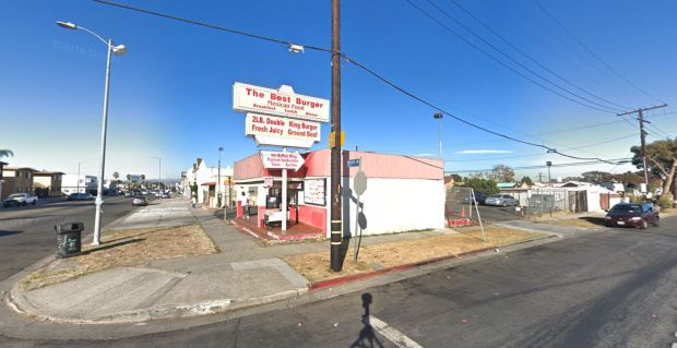 Hannah Bell, 15, was shot outside the Best Burger stand at 78th Street and Western Avenue in South Los Angeles on Friday, April 27, 2018. She died at a hospital. Authorities are offering a $50,000 reward for information that leads to the arrest and convicion in the case. (Google Street View)