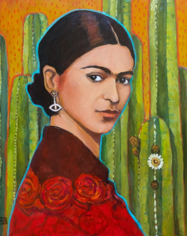 """Frida Khalo"" by Allison Adams is a part of the Groundbreaking Girls collection on exhibit at on exhibit through April 14 at OC Contemporary Gallery in San Clemente."