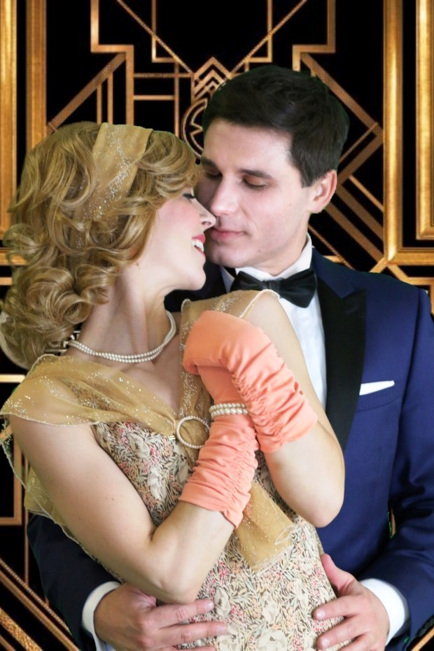 "Haley Rubin plays Daisy and Michael Voyu portrays Jay Gatsby in the upcoming Inland Valley Repertory Theatre production of ""The Great Gatsby."" (Photo courtesy DawnEllen Ferry)"