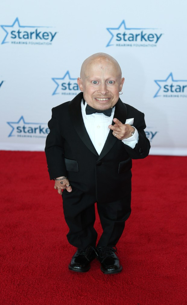 Actor Verne Troyer, seen above in a 2014 photo, was born with a case of dwarfism that left him -- at 2-foot-8 -- one of the shortest men in the world. (Photo by Adam Bettcher/Getty Images for Starkey Hearing Foundation)