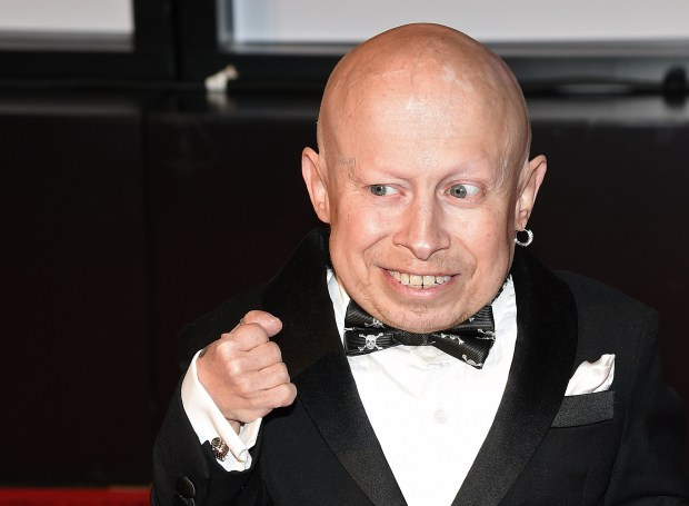 "Actor Verne Troyer, seen in a 2015 photo, died Saturday, April 21, 2018, at the age of 49. He is best known for playing Mini Me in the ""Austin Powers"" movies. (Photo by Ethan Miller/Getty Images for Celebrity Fight Night)"