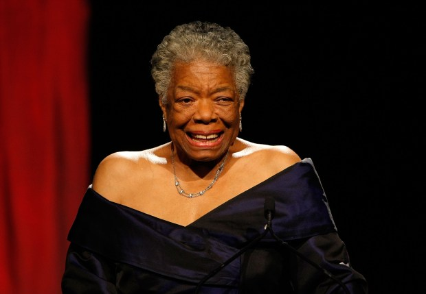 NEW YORK - JUNE 03: Dr. Maya Angelou speaks on stage during the 34th Annual AWRT Gracie Awards Gala at The New York Marriott Marquis on June 3, 2009 in New York City. (Photo by Jemal Countess/Getty Images for AWRT)