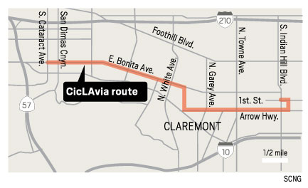 The CicLAvia route. (Jeff Goertzen/SCNG)