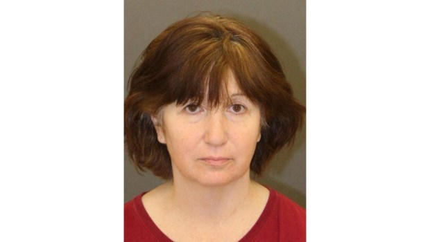 This booking mug shows Jill Blackstone, a TV producer who was arrested on Thursday, April 12, 2018, on suspicion of killing her sister at their Studio City home in 2015. (Courtesy of LAPD)