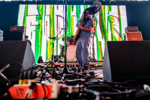 FIDLAR performs on Mojave stage during the third day of the Coachella Valley Music and Arts Festival at the Empire Polo Club in Indio on April 15, 2018. (Photo by Matt Masin, Contributing Photographer)