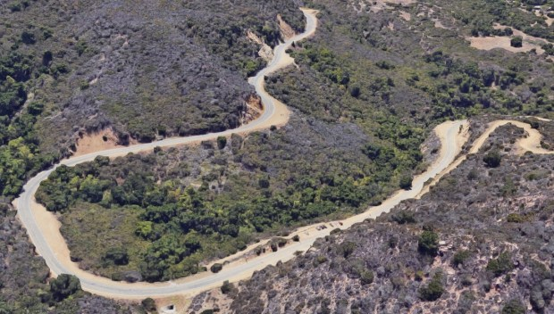 A motorcyclist died in a crash with another vehicle on a Stunt Road, twisting mountain road above Calabasas Sunday, April 8. (Image via Google Maps)