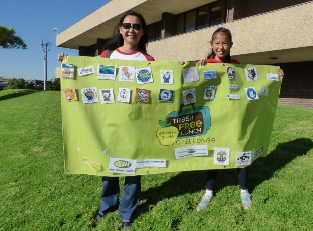 Carr Elementar parent and Green Team leader Left to right: Trang Pham and Natalie Vu. (Courtesy Photo)