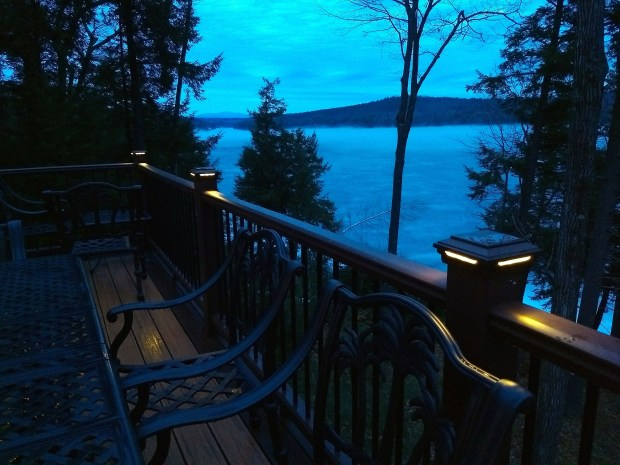 Installing low-voltage lighting around a deck is quite easy. The soft lights create a magical mood and provide safety on steps.