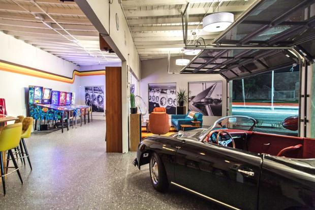 Redondo Beach's Garage 77, part 70s retro-themed private club space and part classic car club. (Photo: David Rosenfeld)